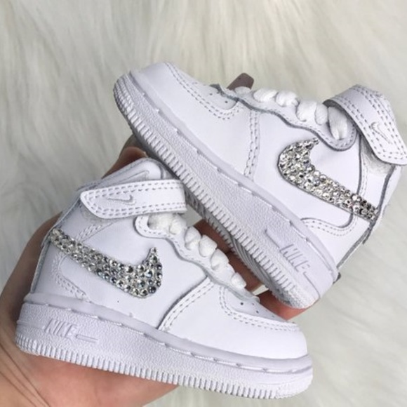 Bling Nikes Baby Toddler Nike Air Force1 Swarovski ab3738034
